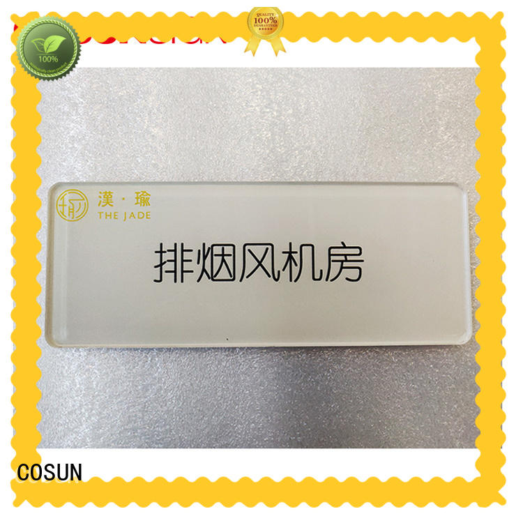 Wholesale metal office door signs stainless steel Supply house decoration