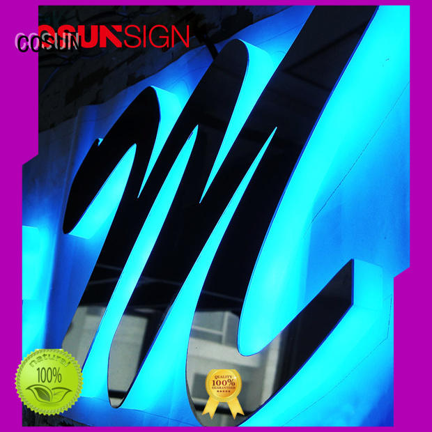 COSUN led base acrylic house signs online manufacturers for shop