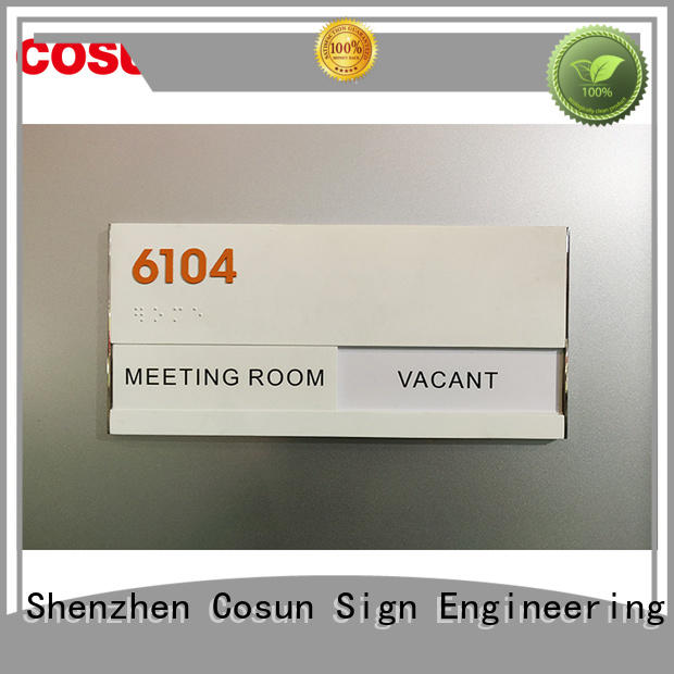 Latest the office sign etched company house decoration