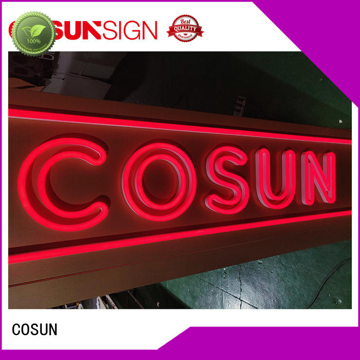 COSUN Top neon sign store near me company for promotion