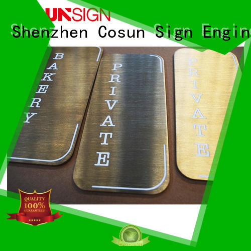 COSUN High-quality acrylic front door signs manufacturers for door