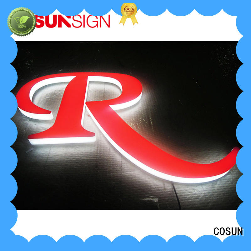 COSUN Latest 3 sided acrylic sign holder company for restaurant