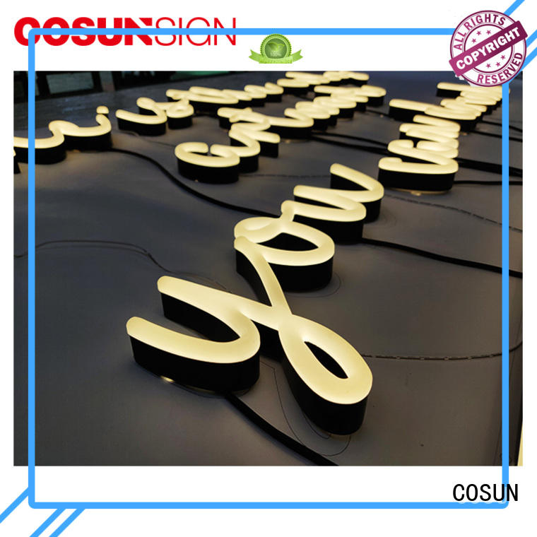 Factory Direct Sales Cheap Back Lighted Custom Acrylic Neon Sign