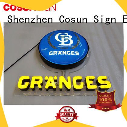 COSUN popular sign fabrication Supply check now