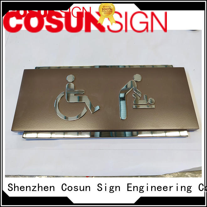 custom address plaques polishing COSUN