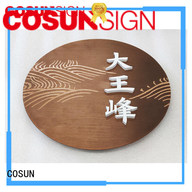 COSUN Latest door signs canada factory for bar