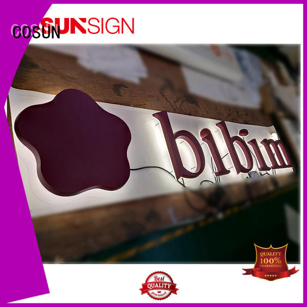 COSUN Latest plexiglass poster holder factory for pub club