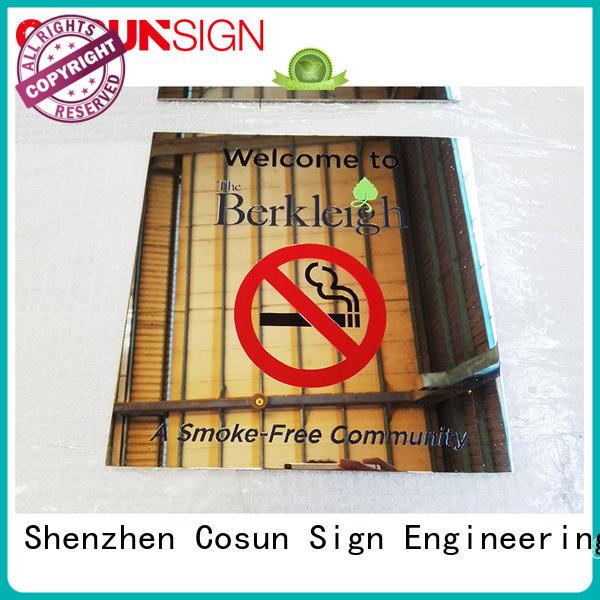 COSUN restroom door sign for wholesale for warning