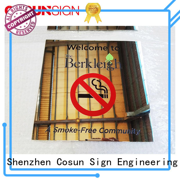 painted meeting room door sign for shop COSUN