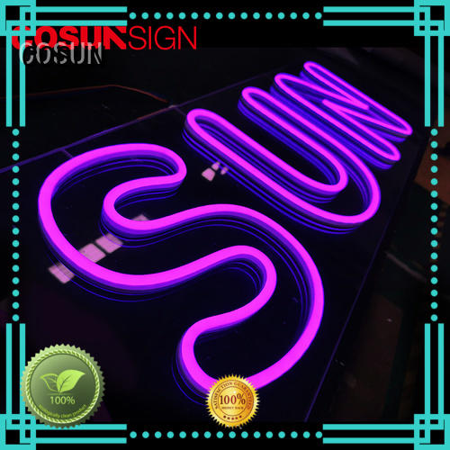 COSUN eye-catching neon sign artist Suppliers for warning