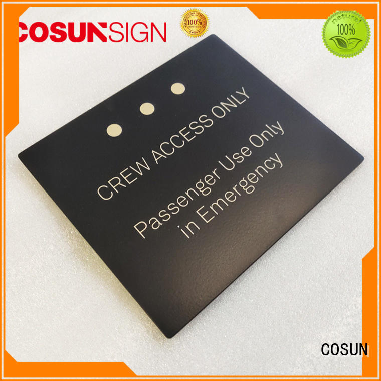 COSUN stainless steel door name tags for business for hotel