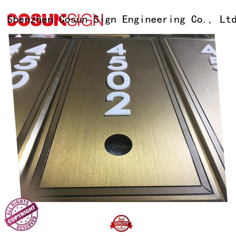 COSUN etched mydoorsign factory for wholesale