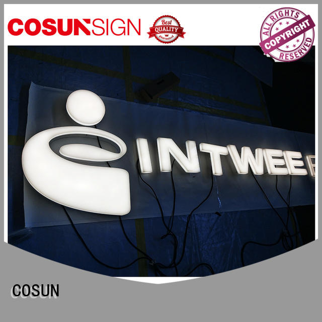 COSUN led base acrylic front door signs for shop