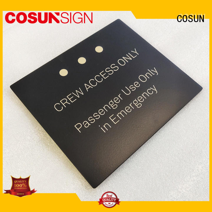 frame custom address plaques door bar COSUN
