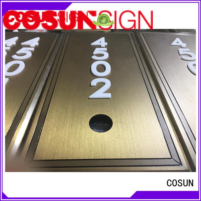 COSUN logo custom washroom door sign Suppliers for hotel