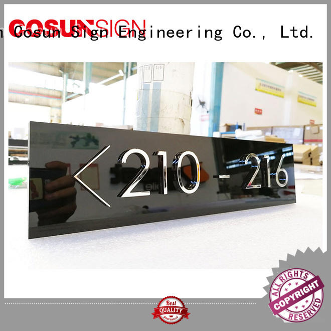 Latest hanging door signs for office etched Suppliers for door