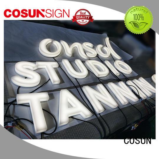 COSUN Custom plexiglass door sign factory for shop