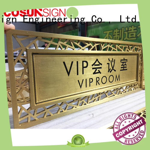 cnc aluminum custom office door sign acrylic for door COSUN
