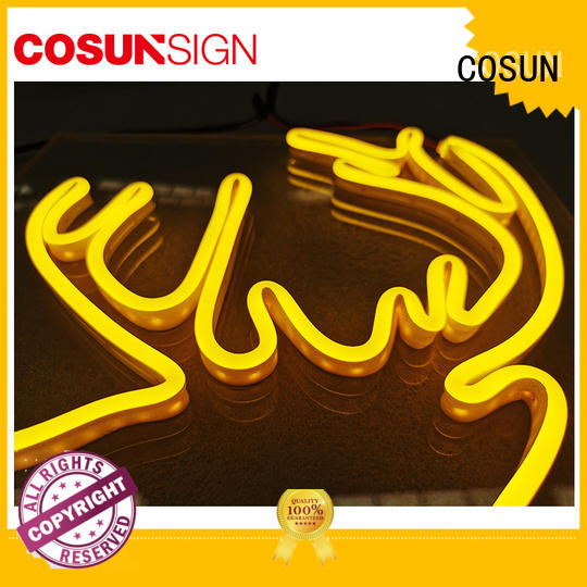 COSUN popular led neon letters factory