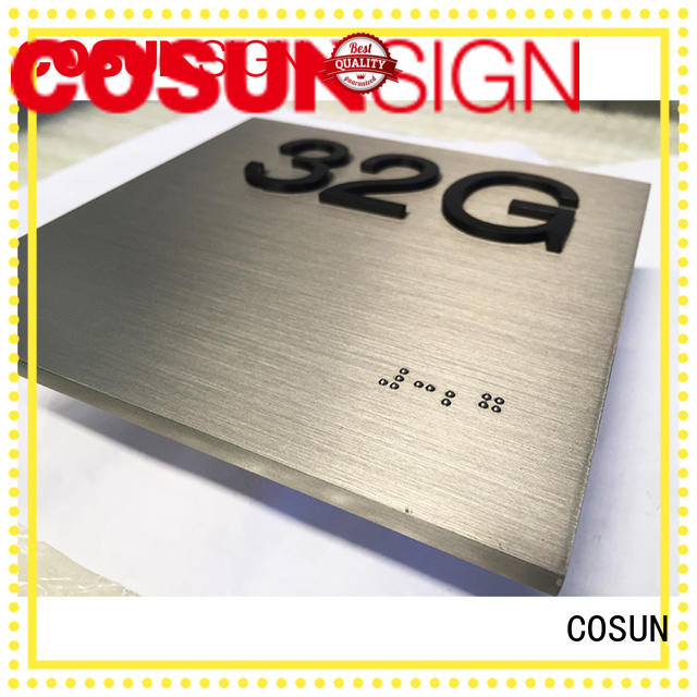 COSUN High-quality business name plates for doors manufacturers house decoration