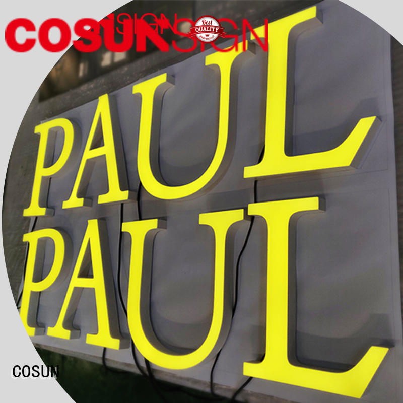 COSUN Custom acrylic sign mounts Suppliers for shop