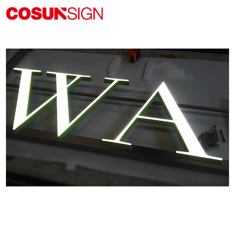 COSUN clear letter perspex plaque for restaurant-2