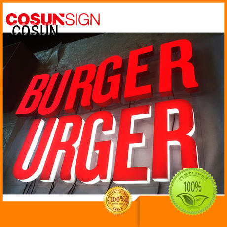 COSUN competitive price acrylic office wall signs manufacturers for restaurant