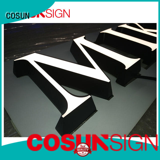 COSUN Top custom sign maker free sample for restaurant