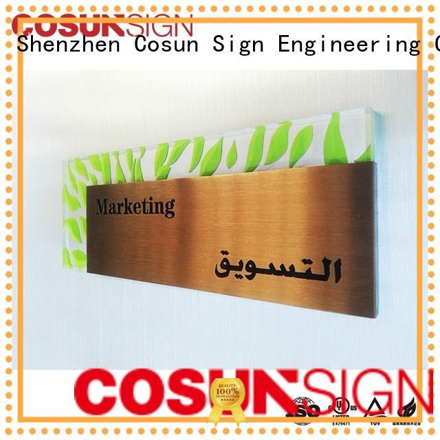 Custom nursery door sign stainless steel for business for warning