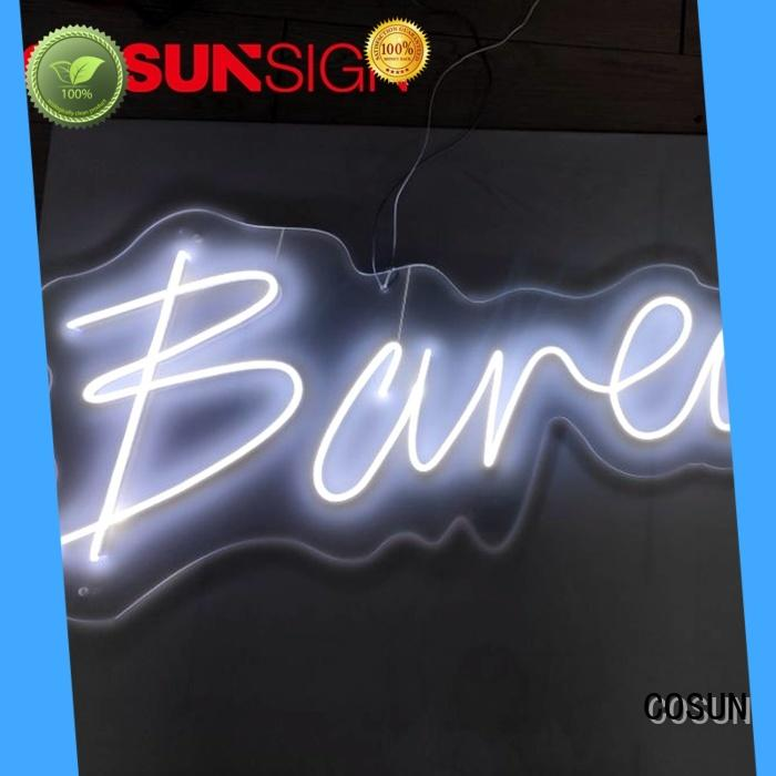 COSUN hot-sale red neon sign factory for restaurant