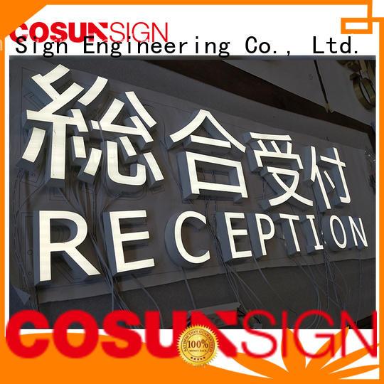 COSUN led base galvanized sign holder for pub club