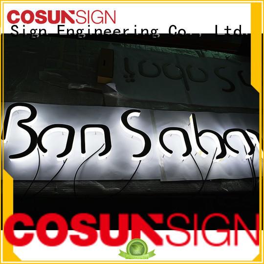Custom acrylic placard clear letter for restaurant