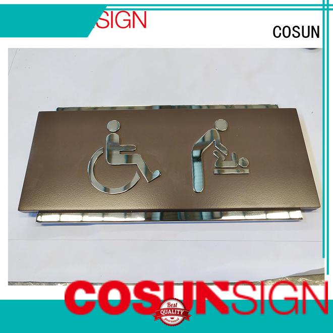 COSUN Best door sign name plates Suppliers for door