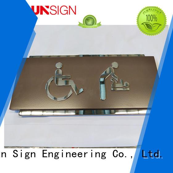 COSUN brushed custom metal door signs wholesale shop
