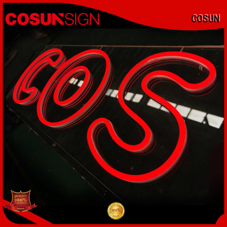 COSUN High-quality buy neon letters manufacturers for promoting
