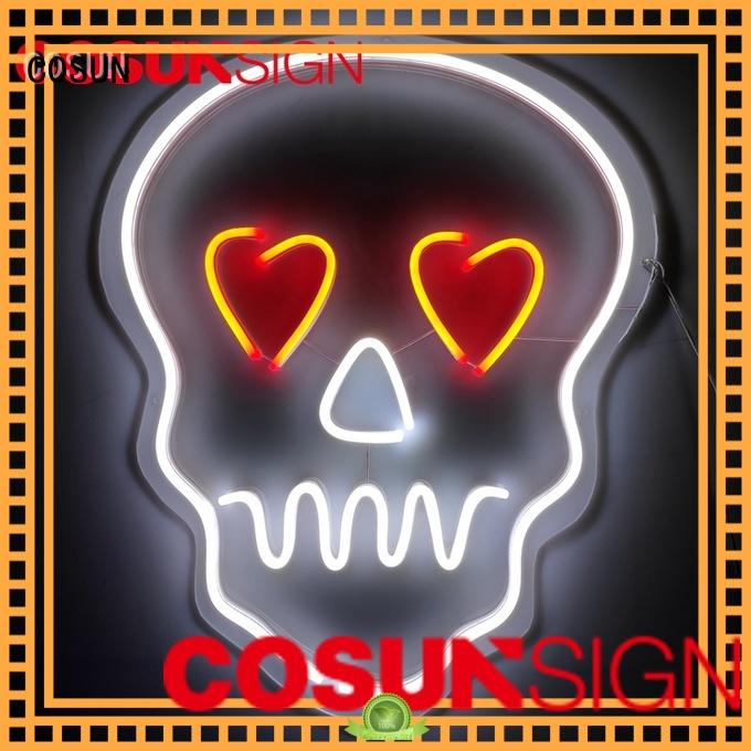 COSUN on-sale neon light wall decor for business for promotion
