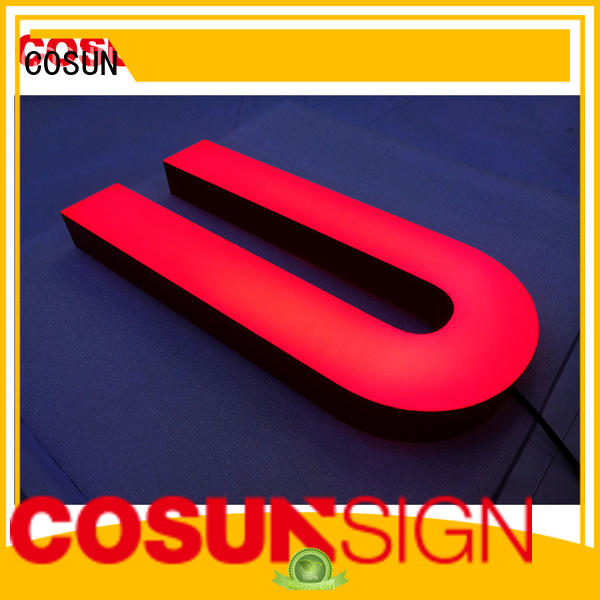COSUN led base acrylic wall mount sign holder company for restaurant