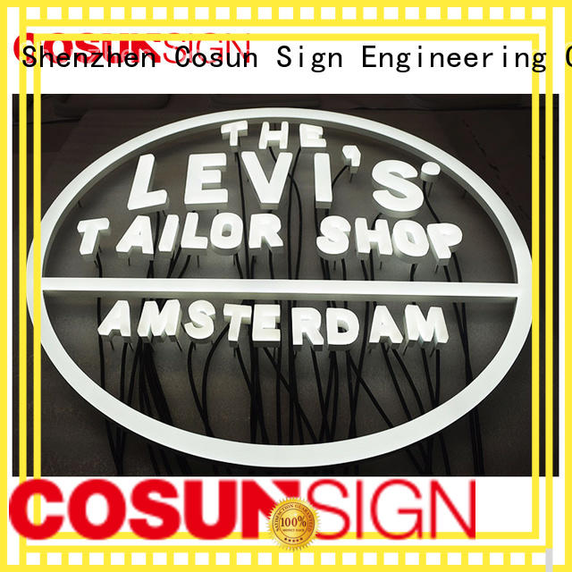 COSUN on-sale neon address sign for business for restaurant