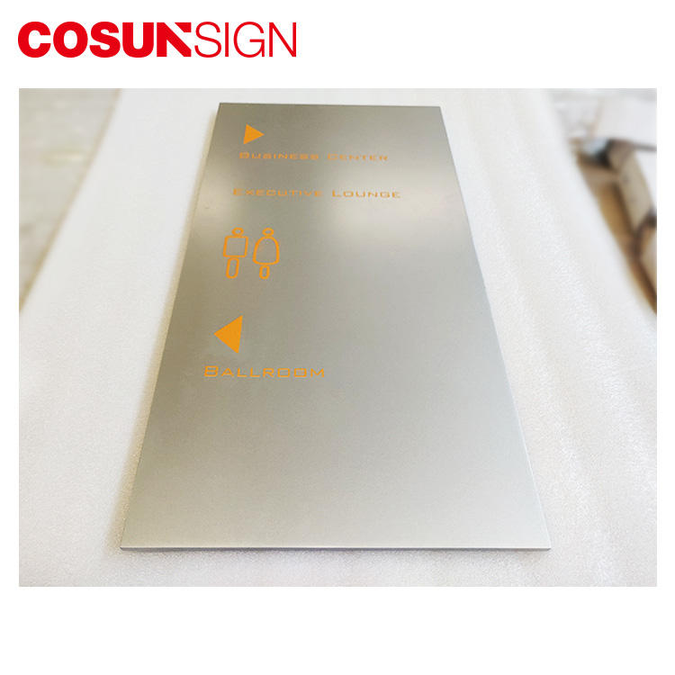 Cosun All Size Painted Directional Metal Plate Logo-2