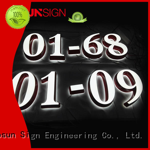 COSUN plastic commercial business signs inquire now