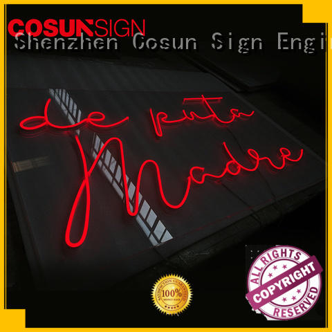 COSUN popular neon sign bulb manufacturers