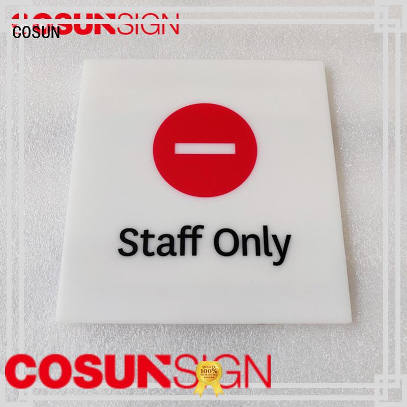 Custom shut the door sign acrylic company for door
