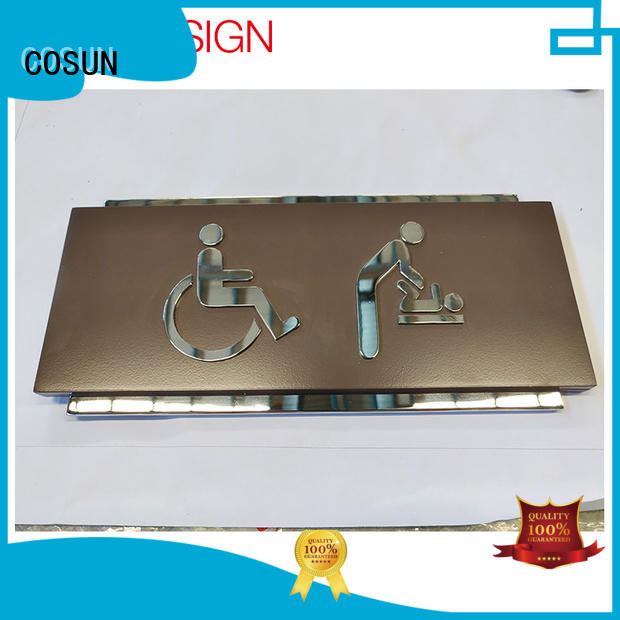 aluminum door sign laser cutting for decoration COSUN