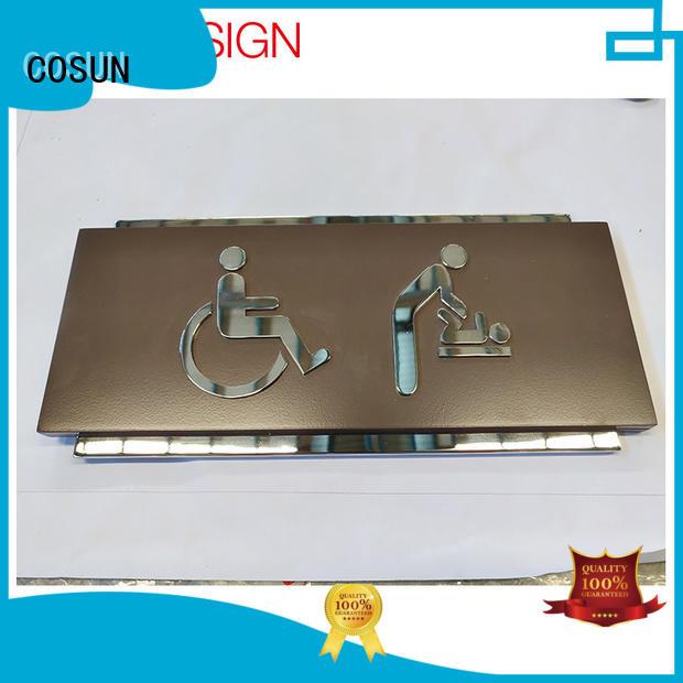 aluminum door sign laser cutting for decoration COSUN