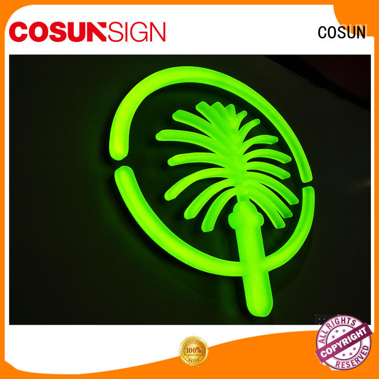 COSUN Latest custom neon lights for sale Suppliers for warning