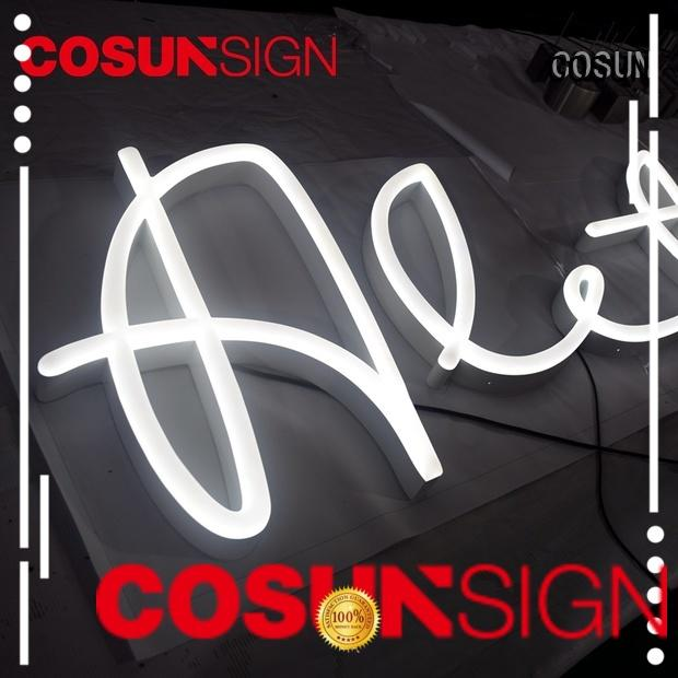 COSUN New neon light manufacturer factory check now