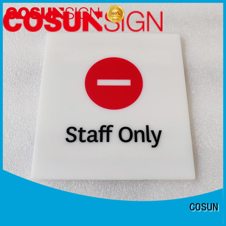 COSUN painted custom door placards factory for toilet signage