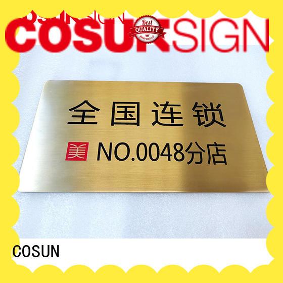 COSUN Top over the door signs for business for door