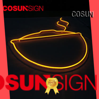 COSUN on-sale glow signs factory for hotel