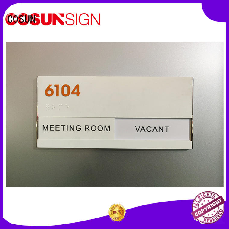 COSUN braille welcome door signs for warning